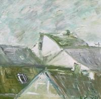 Urbanistic - Roofs - Oil On Canvas