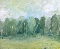 Nature - Field And Trees - Oil On Canvas