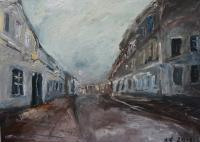 Urbanistic - Old Town - Oil On Canvas