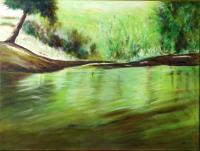 Riverscape - Reflections In The Water - Oil