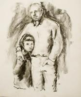 Portraits - Father And Daughter - Charcoal