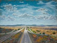 Paintings - I-40 East - Pastel