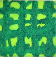 Grids - Green Grid - Panel Sand Acrylic Paint