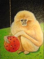 Whimsical Animals - Psychic Monkey - Oil
