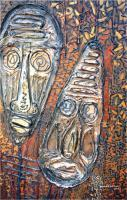 Mixed Media - African Masks - Mixed Media