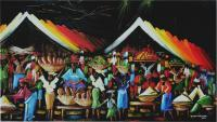 Acrylic Paintings - Oja Ale - Night Market - Acrylic