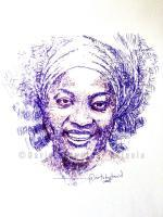 Diamonds Are Forever - Ameyo Adadevoh - Pen On Paper