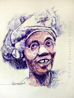 Diamonds Are Forever - Funmilayo Ransome-Kuti - Pen On Paper