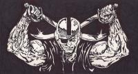 Raider Nation - Inkpencil Drawings - By Jeremiah Colley, Graphic Art Drawing Artist