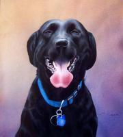 Animal Portraits - The Laughing Labrador - Watercolor