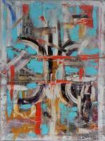 Abstract - The City Where You Live - Oil