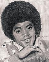 Michael Jackson Rip - Hand Drawn Drawings - By Ronald Hornbeck, Pencil Drawing Artist