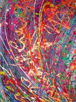 Abstract World - Rain Forest - Acrylic On Canvas