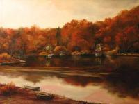 Autumn Sunset - Oil Paintings - By Brian Pier, Impressionist Painting Artist