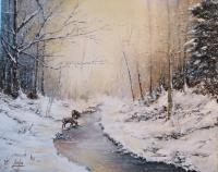Winters First Snow - Add New Artwork Medium Paintings - By Brian Pier, Add New Artwork Style Painting Artist