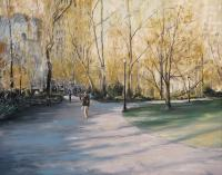 Winter In Madison Square Park - Oil Paintings - By Brian Pier, Impressionist Painting Artist