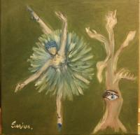 Sabina - Dance In Two - Oil On Canvas