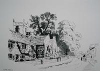 Plague Cottages Derbyshire - Penink Drawings - By Andy Davis, Drawing Drawing Artist