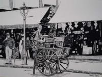 The Knife Sharpener - Penink Drawings - By Andy Davis, Realism Drawing Artist