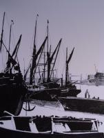 London Docks 1800S - Penink Drawings - By Andy Davis, Realism Drawing Artist