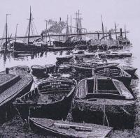 London Docks 1800 - Pen And Ink Drawings - By Andy Davis, Realism Drawing Artist