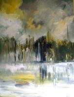 Impressionism - Summer Waterscity Spires - Oil