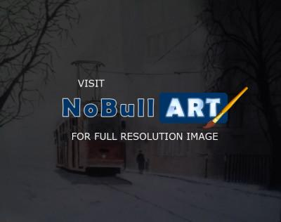 Realism - The Tram - Oil