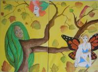Women As Nature - Water Color And Oil Painting Paintings - By Sampa Acharya, Canvas Painting Artist