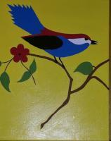 Painting - Lucky Bird - Acrylic