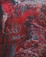 Paintings - Red Handed - Acrylic Paint