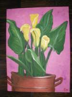 Painting Class - Yellow Flowers - Acrylic