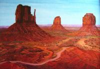 Monument Valley Utah - Acrylic Paintings - By Qiufen Wei - Marmo, Realism Painting Artist