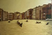 Venice Italy - Oil On Canvas Paintings - By Qiufen Wei - Marmo, Realism Painting Artist