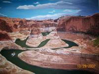 Glen Canyon Utah - Oil On Canvas Paintings - By Qiufen Wei - Marmo, Realism Painting Artist