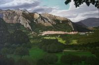 San Rufo Italy - Oil On Canvas Paintings - By Qiufen Wei - Marmo, Realism Painting Artist