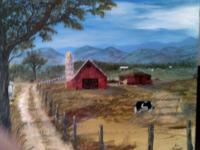 Barn Scenes - Old Barn Series  1 - Acrylic