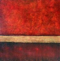 Abstract - Red Dawn - Mixed Media