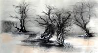 M - Charcoal Drawings - By John Biro, Drawing Drawing Artist