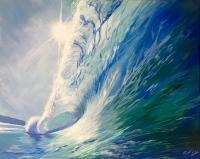 Pure Bliss - Acrylic Paintings - By Eleanor Forbes, Seascape Painting Artist