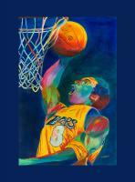 Kobe Bryant - Watercolor Paintings - By Mako Hughes, Unique Usage Of Pure Colors Painting Artist