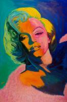 Marilyn Monroe - Watercolor Paintings - By Mako Hughes, Unique Usage Of Pure Colors Painting Artist