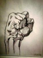Works 1 - Fist - Graphite