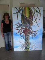 Essence Of New Zealand - New Zealand Nikau Palm And Kereru - Acrylic On  Canvas