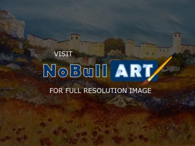 Gallery 1  Landscapes - Andalucian Village - Oil