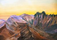 Gallery 1  Landscapes - Sunrise Glydwr Fach - Oil
