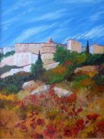Gallery 1  Landscapes - Village In Andalucia 2 - Oil