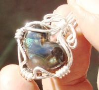 Fire Agate - I Said The Heart As A Precious Stone In Imperial Fire Agate - Wire Wrapping