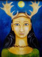Fantasy - Princess Of The Forest - Oil On Canvas