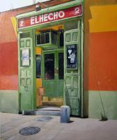 El Hecho Pub - Oil On Canvas Paintings - By Tomas Castano, Realistic Painting Artist