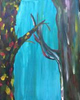 Growth - Two Trees - Acrylic Paint